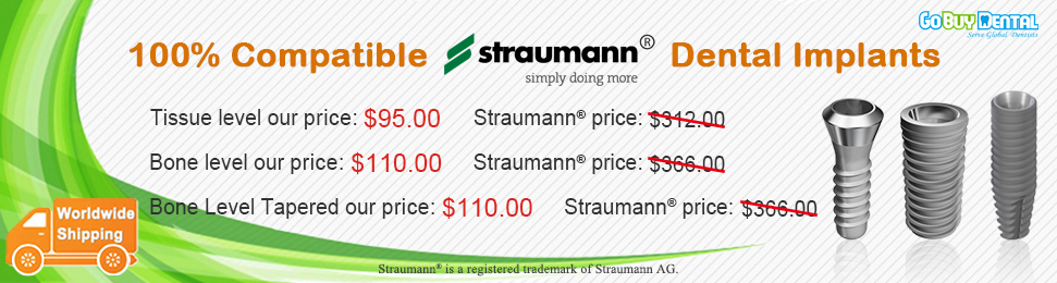 100% Straumann® Compatible Dental Implants, affordable price