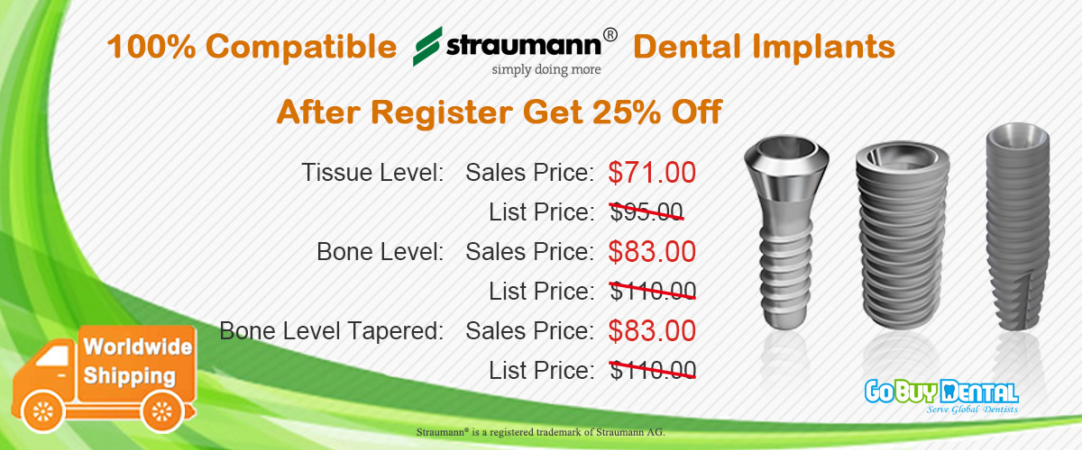 100% Straumann® Compatible Dental Implants, affordable price for