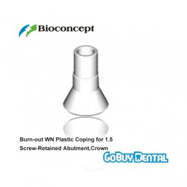 Burn-out WN Plastic Coping for 1.5 Screw-Retained Abutment,Crown