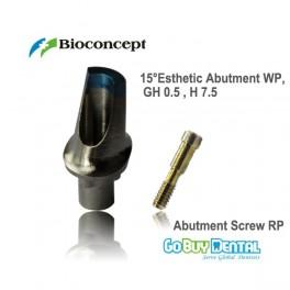 15° Esthetic Abutment WP, GH 0.5mm , H 7.5