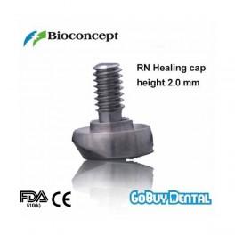 RN Healing cap, labial bevel, short, height 2.0mm