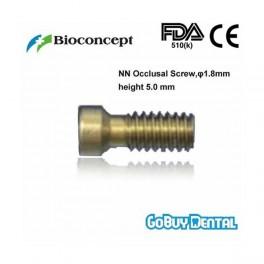 NN Occlusal screw, length 5.0mm, Threadφ1.8mm, yellow
