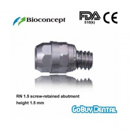 Regular neck 1.5mm screw-retained aboutment, height 1.5mm