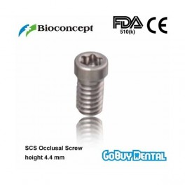 SCS Occlusal screw, length 4.4mm for regular neck and wide neck abutment