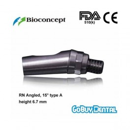 RN Angled Abutment, 15° type A, height 6.7mm, Long