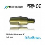 RN Solid Abutment 6°, height 4.0mm, yellow
