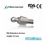 RN Retentive Anchor Abutment, height 3.4mm