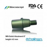 WN Solid Abutment 6°, height 4.0mm, green