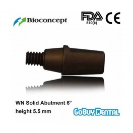 WN Solid Abutment 6°, height 5.5mm, brown