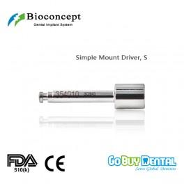 Bioconcept BV System dental instrument Simple Mount Driver Length 20.1mm, short