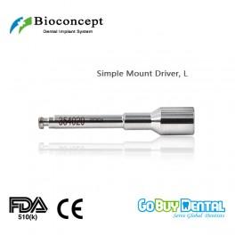 Bioconcept BV System dental instrument Simple Mount Driver Length 26.5mm, long