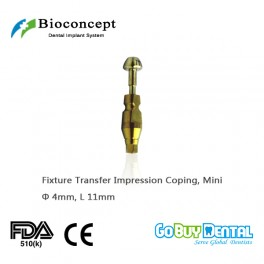 Osstem TSiii Compatible Hex Mini Fixture Pick-up Impression Coping φ4.0mm, Length 11mm