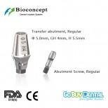Bioconcept RC Hexagon transfer abutment φ5.0mm, GH4mm, H5.5mm