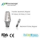 Bioconcept Hexagon RC transfer abutment φ5.0mm, gingival height 4mm, height 7mm