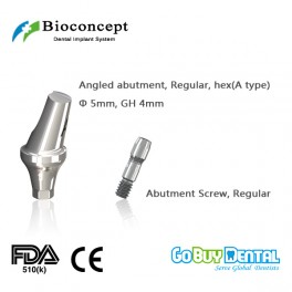 Bioconcept Hexagon Hexagon RC angled abutment φ5.0mm, gingival height 4mm, Angled 17°, type A