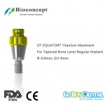 OT EQUATOR® Titanium Abutment for Tapered Bone Level RC Implant, φ4.0mm, GH 4mm