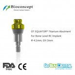 OT EQUATOR® Titanium Abutment for Bone Level RC Implant, φ4.1mm, GH 3mm