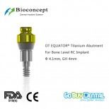 OT EQUATOR® Titanium Abutment for Bone Level RC Implant, φ4.1mm, GH 4mm