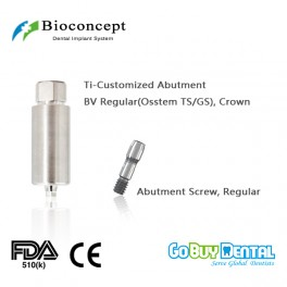 CAD/CAM Ti-Customized Pre-Milled Abutment for BV Tapered Bone Level Regular, crown