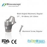 Bioconcept Hexagon Regular Multi-angled abutment φ4.8mm, gingival height 3.0mm, Angled 17°(337200)