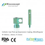 Bioconcept Mini/Regular Esthetic-low Pick-up Impression Coping φ4.8mm, Length 15mm for Open Tray