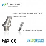 Bioconcept Hexagon RC angled abutment φ6.0mm, gingival height 2mm, Angled 17°, type B