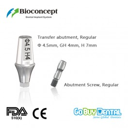 Bioconcept Hex regular transfer abutment φ4.5mm, gingival height 4mm, height 7mm