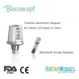 Bioconcept Hexagon Regular Transfer Abutment φ7.0mm, gingival height 2mm, height 7mm(331470)
