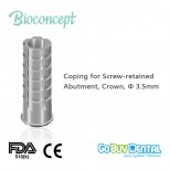 Temporary Coping for screw-retained abutment, Crown,Φ3.5mm