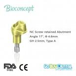 NC Multi Abutment, TAN - angled 17°, Ø 4.6mm, GH 2.5mm, Type A