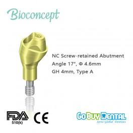 NC Multi Abutment, TAN - angled 17°, Ø 4.6mm, GH 4mm, Type A(131490)