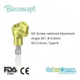 NC Multi Abutment, TAN - angled 30°, Ø 4.6mm, GH 2.5mm, Type B(131540)