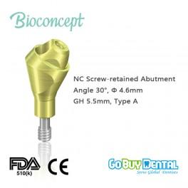 NC Multi Abutment, TAN - angled 30°, Ø 4.6mm, GH 5.5mm, Type B(131580)