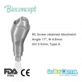 RC Multi Abutment, TAN - angled 17°, Ø 4.6mm, GH 5.5mm, Type A(132480)