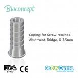 Temporary Coping for screw-retained abutment, Bridge,Φ3.5mm