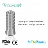Temporary Coping for screw-retained abutment, Brigde,Φ4.6mm(171420N)